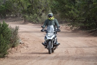 My BMW 1200GS, when shod with knobby tires is just fine for off-road excursions, like this road near the Copper Canyon in Mexico.