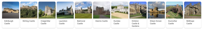 many castles in Scotland