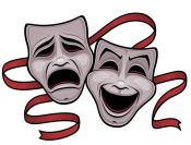 laughing, crying masks