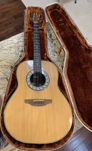 The Ovation guitar Leif bought